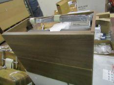 Tavistock Arc walnut 700mm 2 drawer, new and boxed.