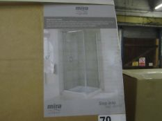5x Various sized and designed enclosure doors, all new and boxed.