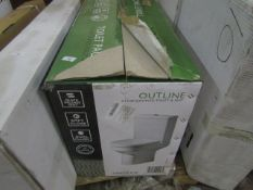Tavistock Outline close coupled toilet and seat, new and boxed.