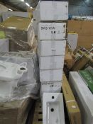 8x Victoria Plumb BAS101A basin, new and boxed.