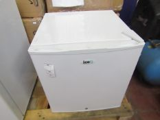 SIXTY IceQ 43ltr Table Top Lockable Fridge in White, Refurbished RRP £99.99