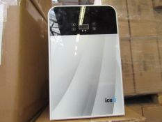 SIXTY IceQ 22ltr Portable Mini Fridge in White & Silver, Refurbished RRP £79.99