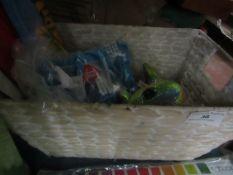 Box of Assorted Items : Unicorn Teddy, Swimwear Etc - Unused.