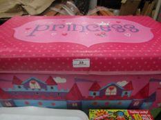 Princess - Fabric Storage Box 60x32cm - Good Condition.