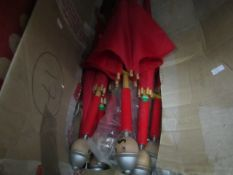 15x Vilac - Red Nut Cracker Umbrellas (Childrens) - All Unchecked & Boxed.