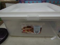 Whitefurze - Large Square Cake Box - Good Condition.