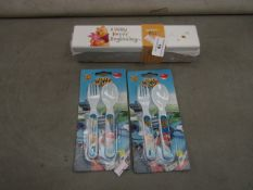 3 Items Being 2 Sets of 2 SuperWings - Infant Spoons - Unused & Packaged. 1x Winnie The Pooh -