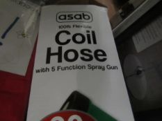 Asab - 50Ft Flexible Coil Hose - Unchecked & Boxed.
