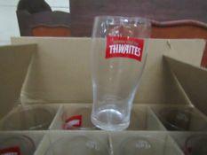 Box of 12 x Thwaites Pint Glasses. New & Boxed