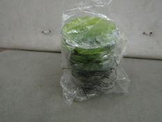 8x Small Plastic green Bowls - New.