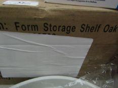 Form Storage Shelf - Oak Effect - Unchecked & Boxed.