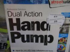 Streetwize - Dual Action Hand Pump - Unchecked & Boxed.
