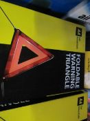 2x AA - Foldable Warning Triangle - Unchecked & Boxed.