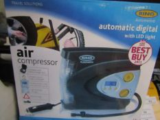 RING - Automatic Digital Air Compressor - Unchecked & Boxed.