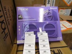 Ihome wireless rechargeable stereo speaker - New & Packaged