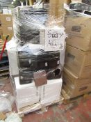 Pallet containing approx 15 - 25 various mini fridges and coolers, all completely unchecked and