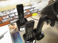 3 Piece BT home phone set with additional base, unchecked.