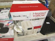 Brookstone heated throw - Unchecked & Boxed