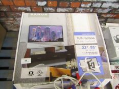 Sanus full motion TV wall mount, unchecked and boxed.