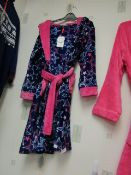 Girls Fleecy Dressing Gown Aged 7-8 yrs New With Tags