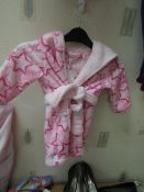 Girls Fleecy Dressing Gown Aged 2-3yrs New With Tags