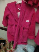 Girls Fleecy Dressing Gown Aged 4-5yrs New With Tags