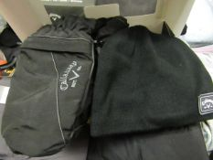 Callaway Winter Pack Knitted Beanie,Mittens ( Snood is Missing ) Boxed