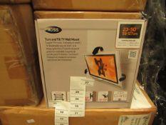 "ROSS - Turn & Tilt TV Wall Mount - 23-50"" - Unused & Boxed."