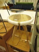   1X   SWOON EDITONS OSCAR WOODEN SIDE TABLE   NO MAJOR DAMAGE   COMES WITH ORIGINAL BOX   RRP £