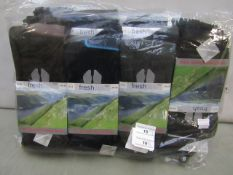 Pack Of 12 - Fresh Feel - The Ultimate Walking Socks - Size 6-11 - (All Dark Colours) - New &
