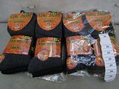 Pack Of 12 - Men's Winter - Non Elastic Socks - Size 6-11 - New & Packaged.
