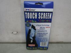 5x Genius - Touch Screen Gloves (Smart Technology, Works With Al Touchscreen Devices) - One Size