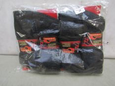 Pack Of 12 - Thermal - Advanced Heat Technology Socks - Size 6-11 (Black) - New & Packaged.