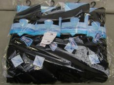 Pack Of 12 - Fresh Feel - Cotton Odour Free Socks - Big Foot Size 11-14 - Black - New & Packaged.