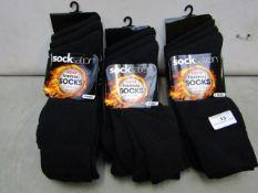9x Pairs - SockNation - Men's Thermal Socks - Size 6-11 - New & Packaged.