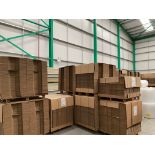 (27) Pallets of Flat Packed Cardboard Boxes