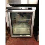 Foster Refrigeration HR150 glass fronted single door under counter refrigerator