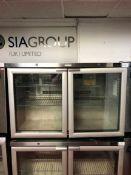 Foster Refrigeration HR360 stainless steel two door under counter refrigerator