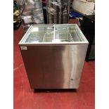 Tefcold IC 200 SC glass lid chest freezer