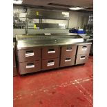 Foster Refrigeration FPS4HR stainless steel refrigerated preparation counter