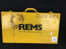 REMS Pressfit heads - 10mm, 10mm, 10mm, 15mm, 28mm with carry case