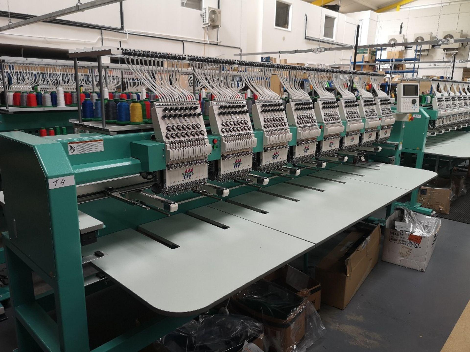Tajima TFMX-II C1508 Electronic Multi Head Automatic Embroidery Machine (2017) - Image 2 of 12