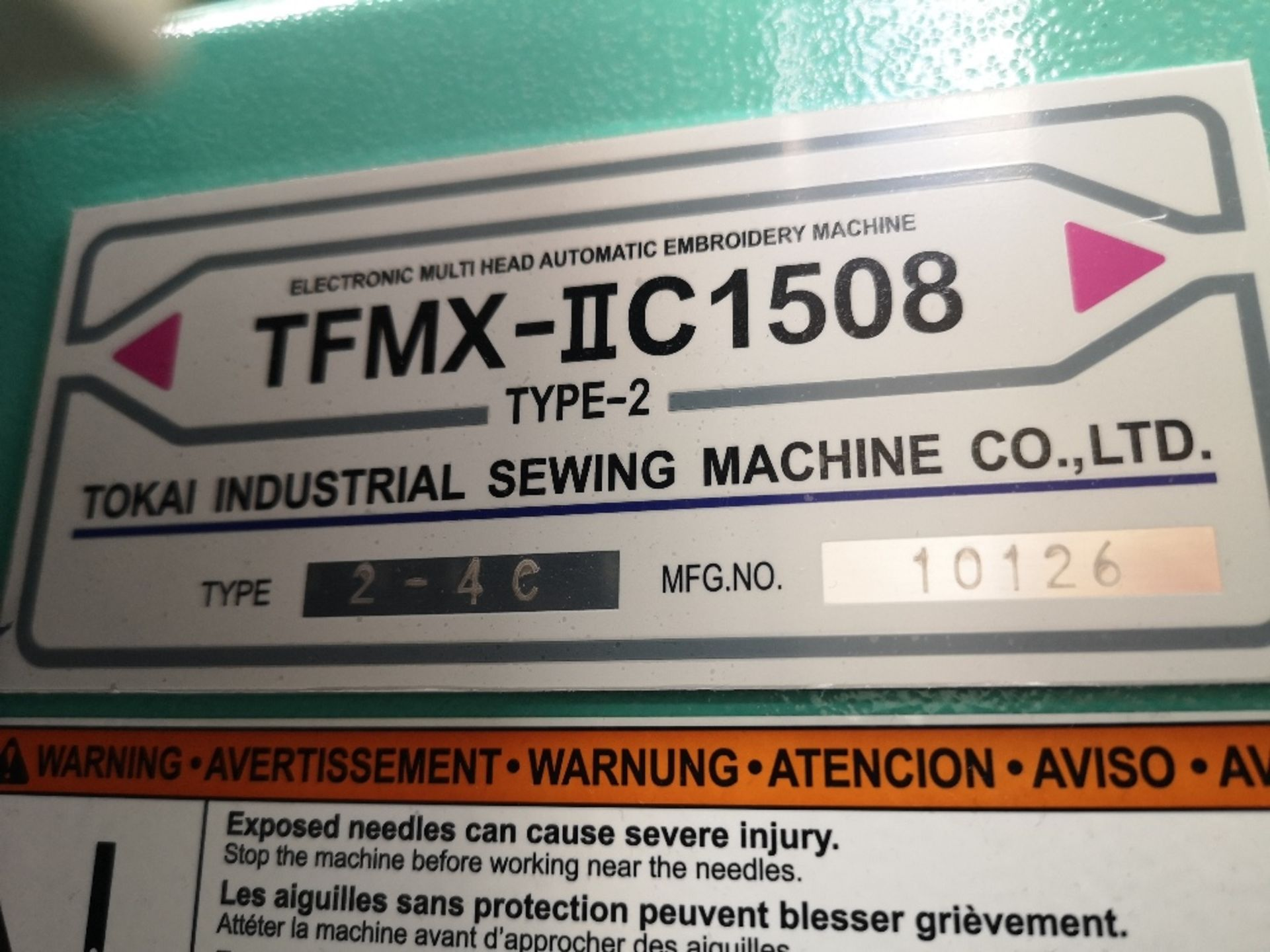 Tajima TFMX-II C1508 Electronic Multi Head Automatic Embroidery Machine (2017) - Image 8 of 12
