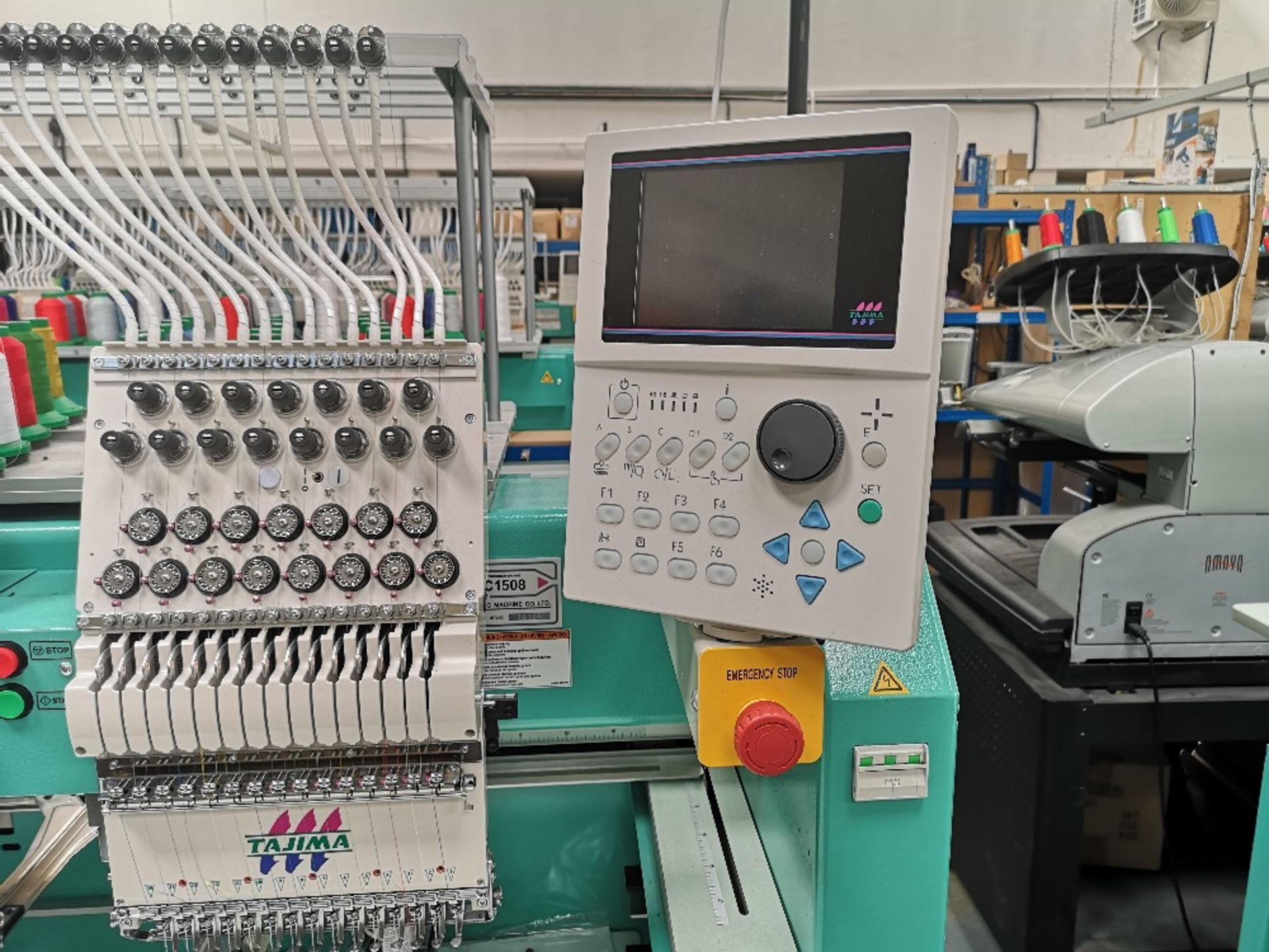 Tajima TFMX-II C1508 Electronic Multi Head Automatic Embroidery Machine (2017) - Image 6 of 12