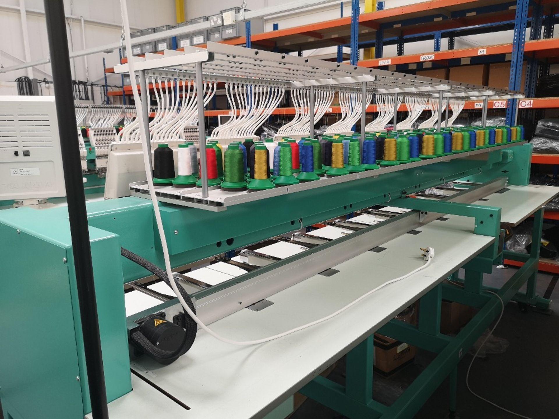 Tajima TFMX-II C1508 Electronic Multi Head Automatic Embroidery Machine (2017) - Image 4 of 12