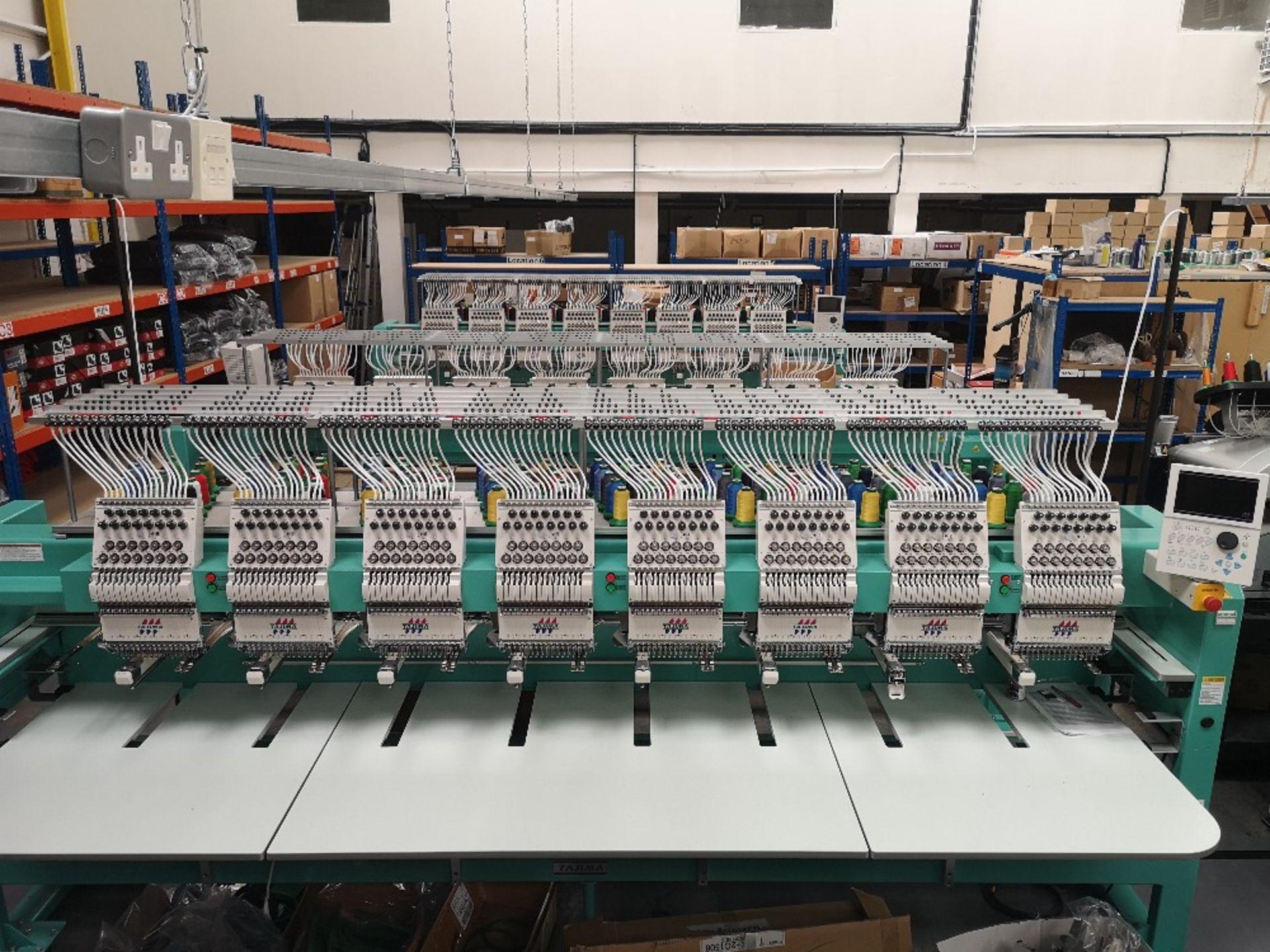 Tajima TFMX-II C1508 Electronic Multi Head Automatic Embroidery Machine (2017) - Image 3 of 12