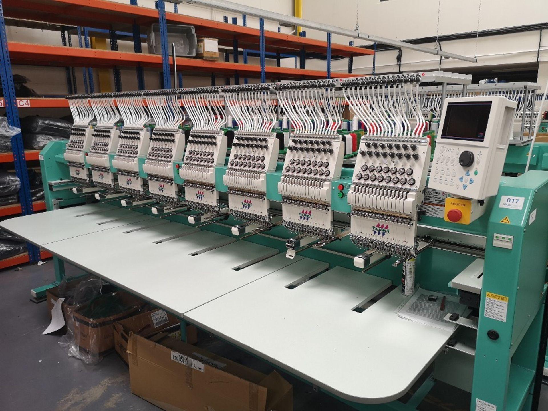 Tajima TFMX-II C1508 Electronic Multi Head Automatic Embroidery Machine (2017)