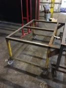 Mobile steel frame trolley