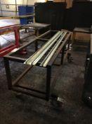 Mobile steel box frame trolley