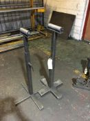 Pair of standalone infeed/outfeed roller supports